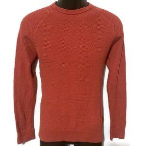 H&M Men's Premium Cotton Red Crewneck Sweater